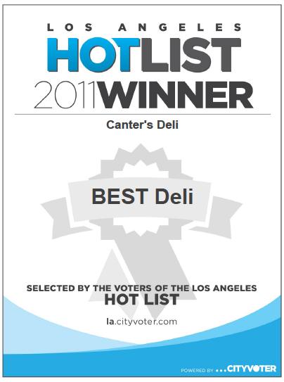 1LA Hotlist Winner - 2011.png