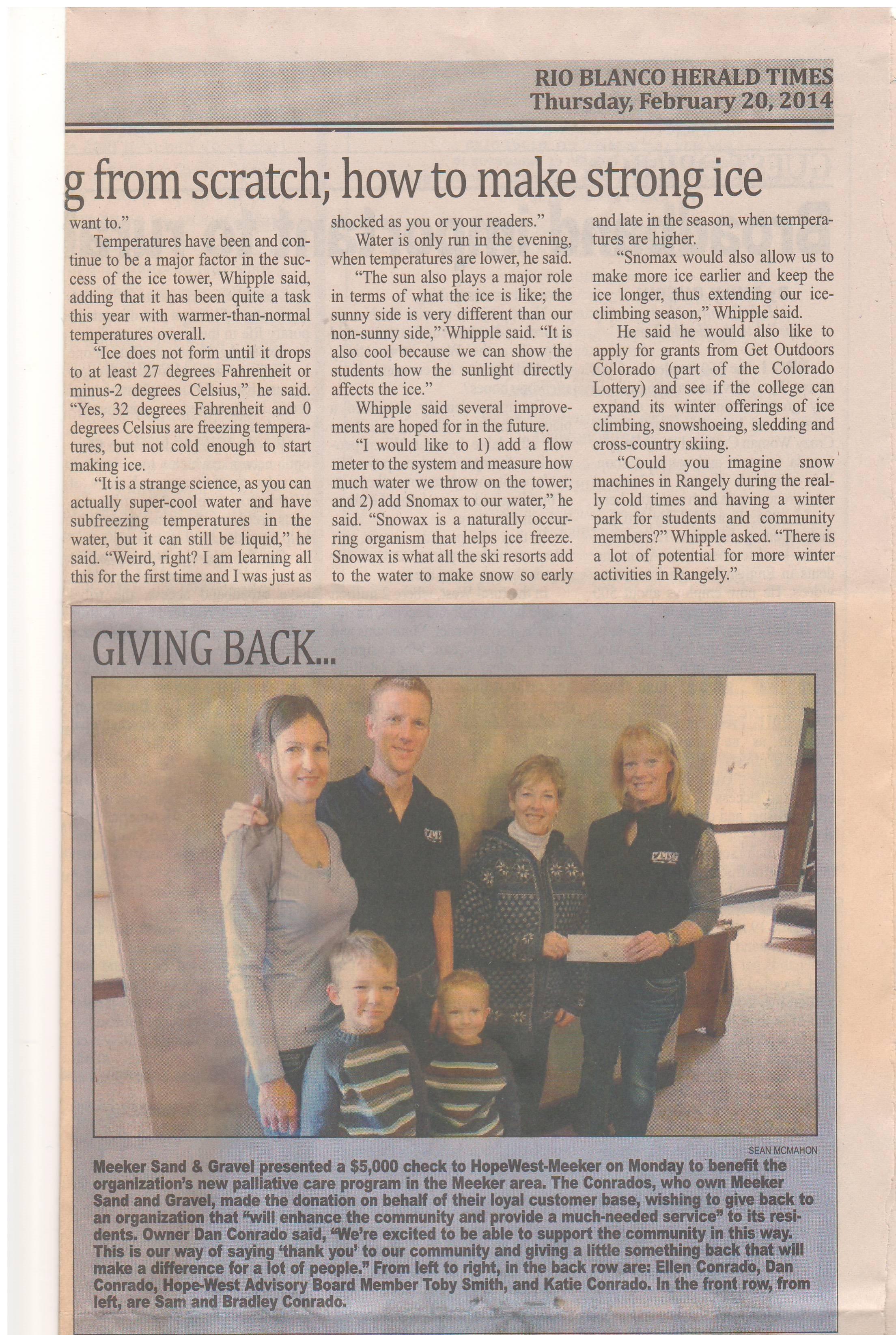 MSG hospice donation.JPG
