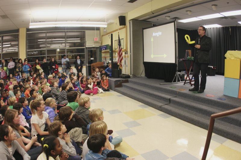 Kids amazed at school assembly in virginia