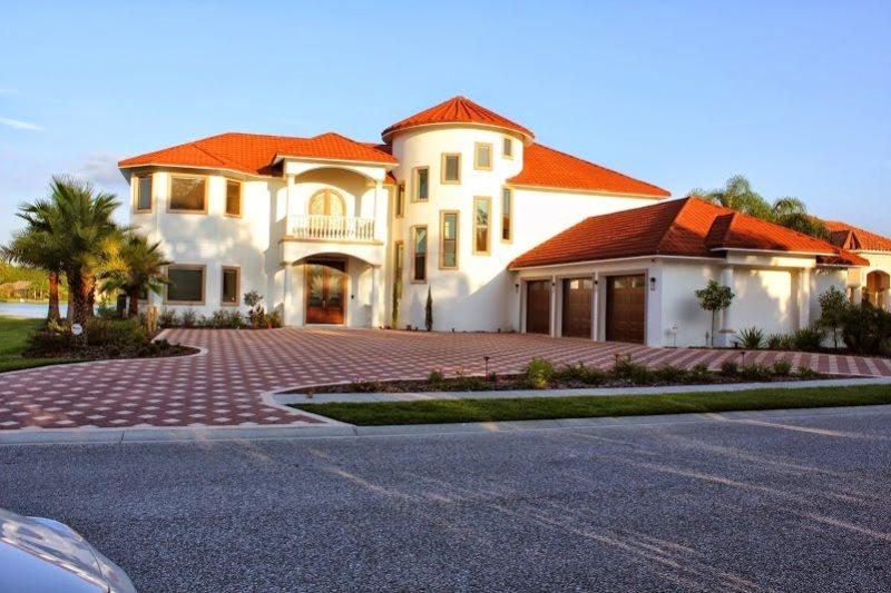 Home with Custom Garage Doors & Roof Tiles