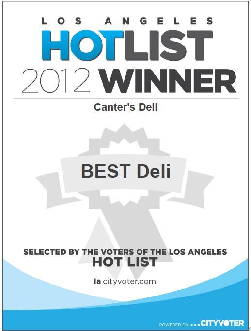 1LA Hotlist Winner - 2012.png